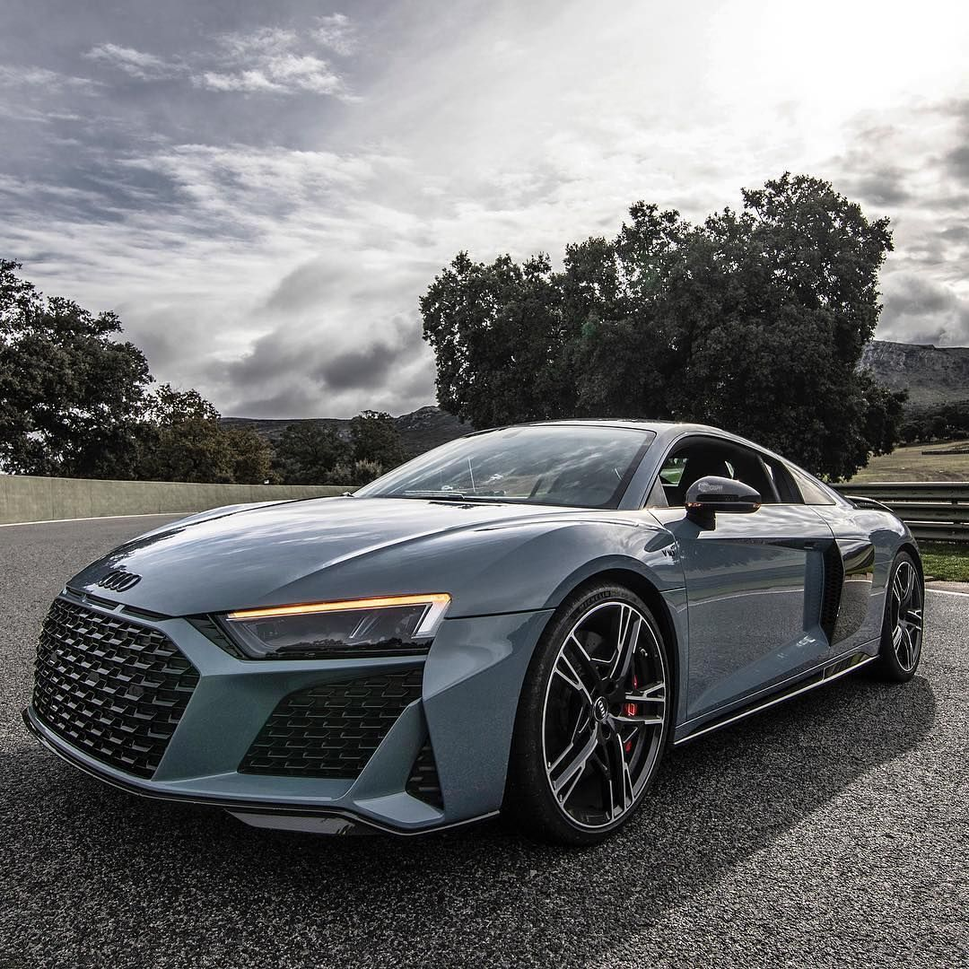 The Gorgeous New Audi R8 Performance In Kemora Grey Apparently It S The Most Desirable Supercar In The World Right Now We Would Ag Audi R8 Audi Audi R8 V10