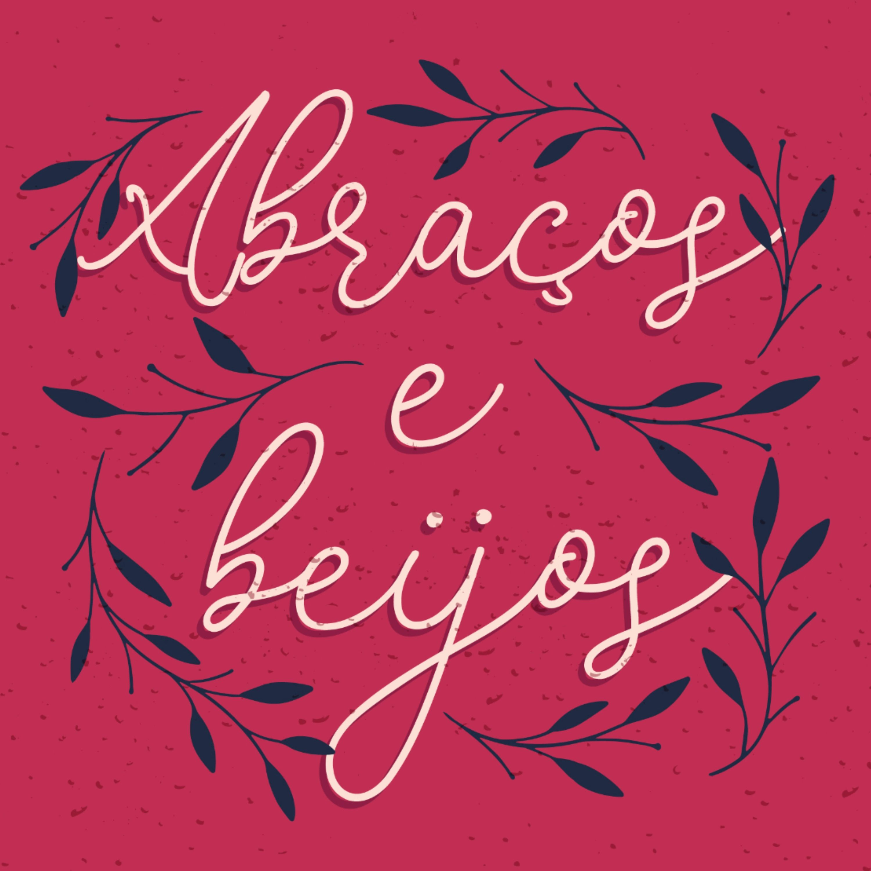 Cute seasonal lettering design featuring the quote in