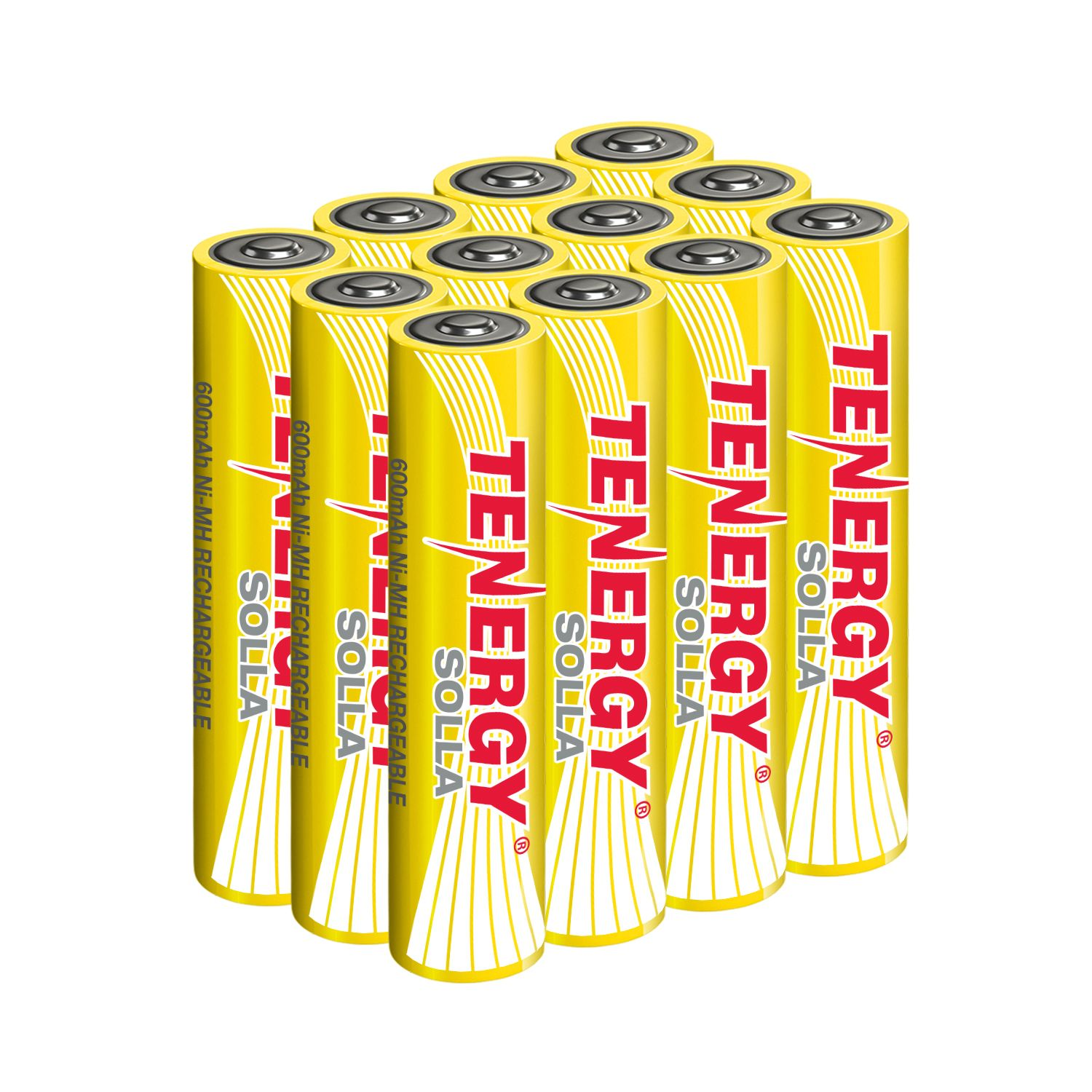 Tenergy Solla Rechargeable Nimh Aaa Battery 600mah Solar Batteries Anti Leak Outdoor Durability 5 Years Performance 12 Pcs Ul Certified Solar Battery Nimh Solar