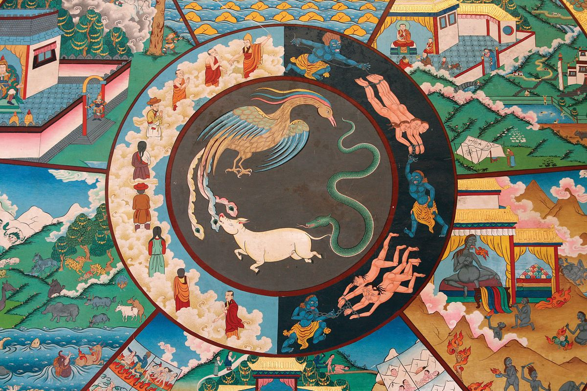 The Wheels Of Samsara Reincarnation Enlightenment Of The Soul Wheel Of Life Poster Prints Life Wheel