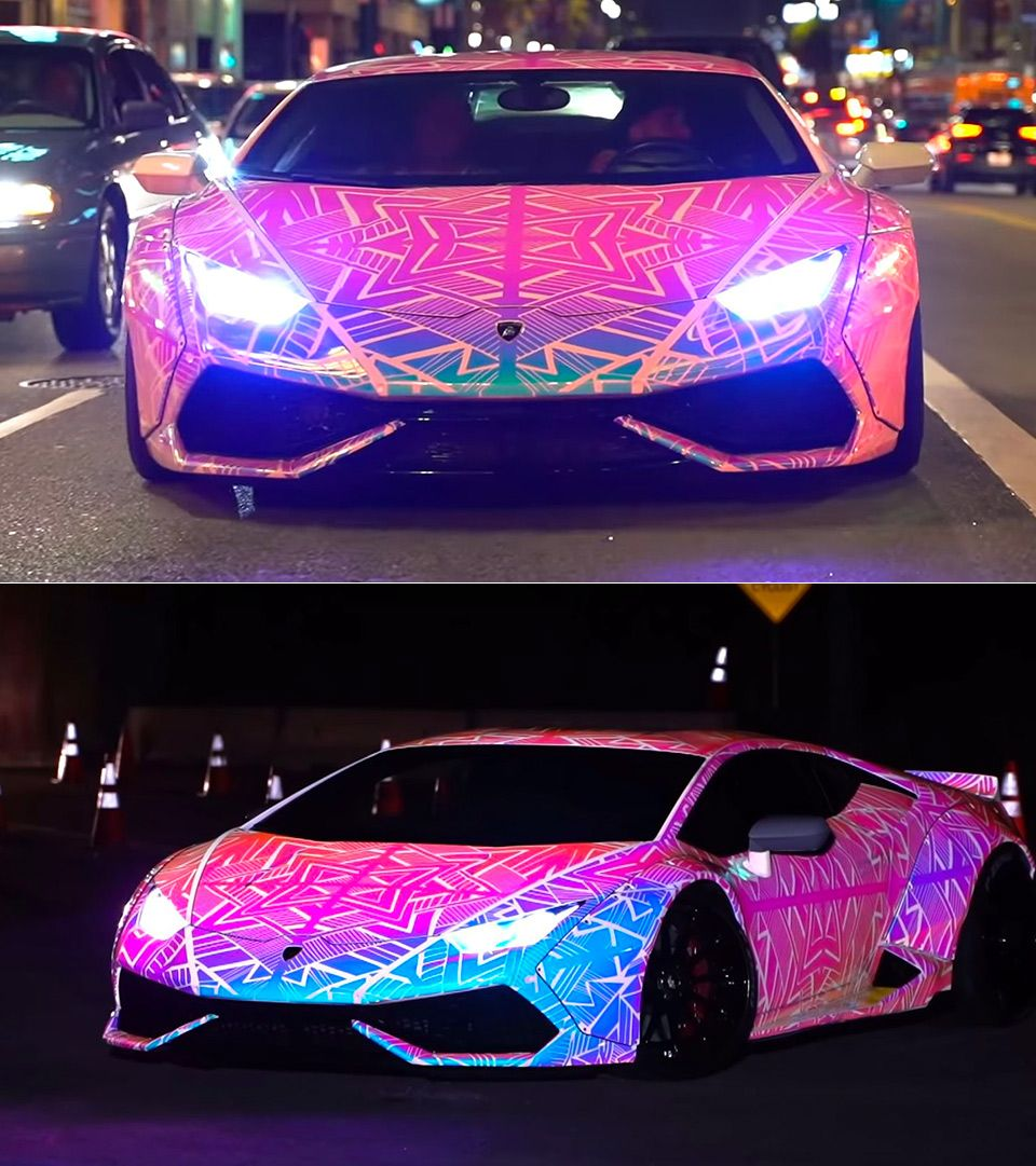 Awesome Glowing Color Changing Lamborghini Huracan Fancy Cars Sports Cars Luxury Amazing Cars [ 1081 x 960 Pixel ]