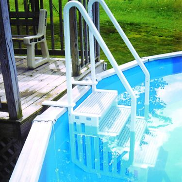 In Pool Steps, Above Ground    Designed for easy pool entry
