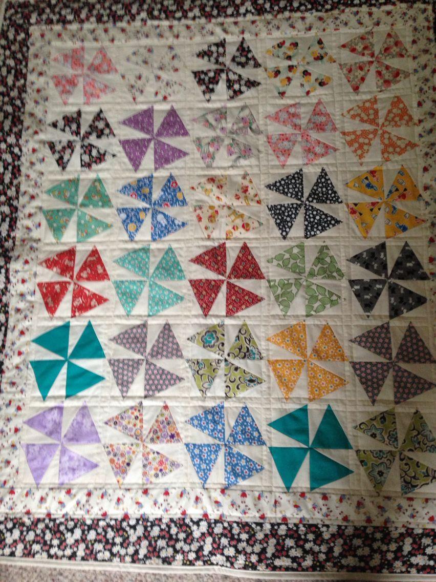 Quilted pinwheel using tri recs ruler | Quilting | Pinterest ... : tri recs quilt patterns - Adamdwight.com