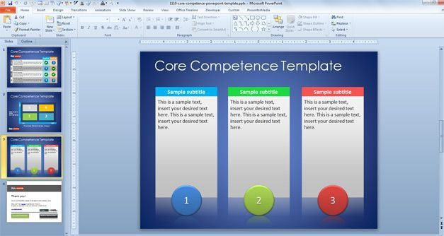 Free Core Competence Powerpoint Template  Graphics