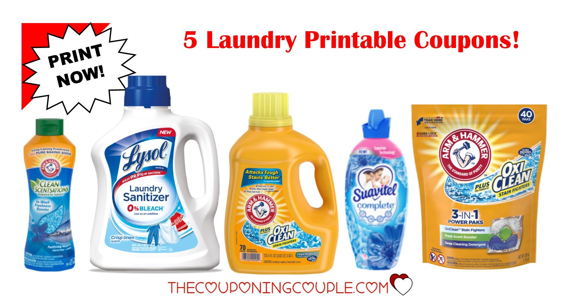 5 Laundry Detergent Printable Coupons 5 50 In Savings