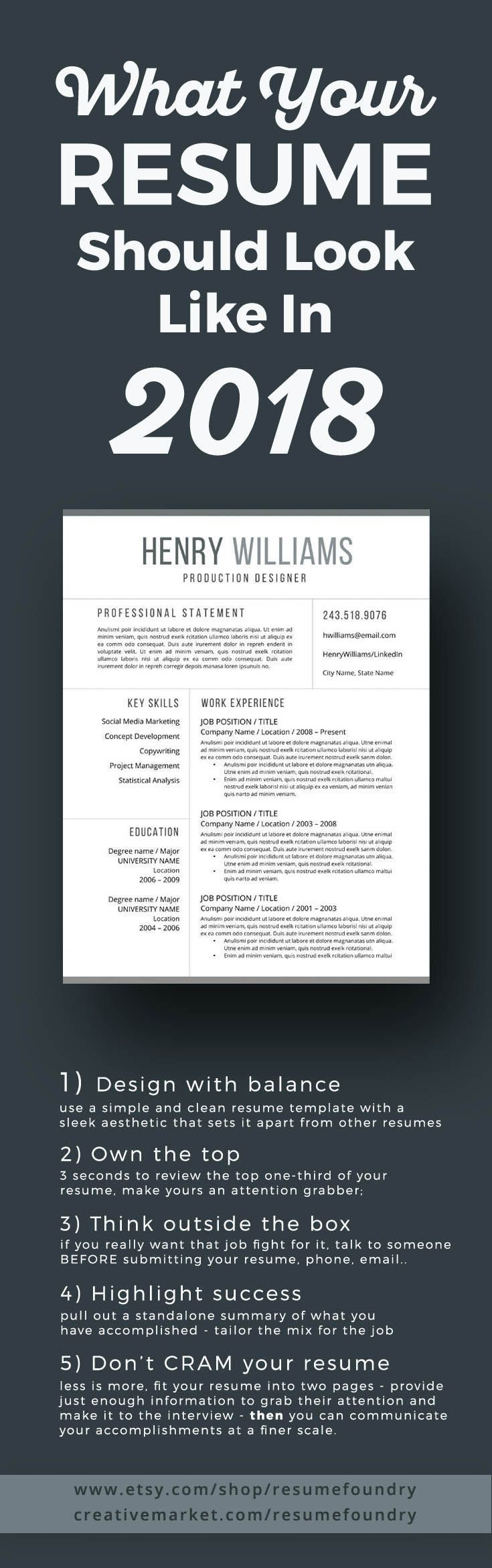 resume tips   the new look of resume templates for 2018