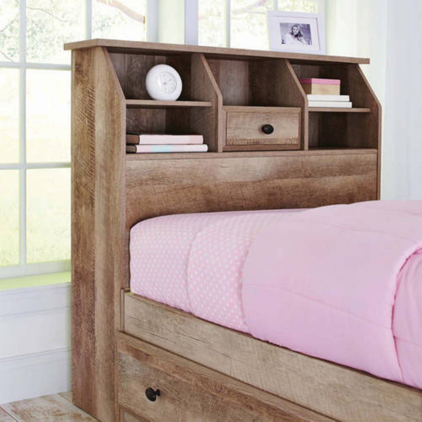Better Homes Gardens Crossmill Twin Bookcase Headboard Weathered