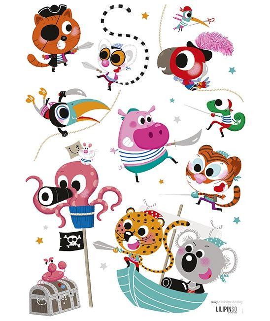 Vinilos infantiles animales piratas lilipinso for Vinilos infantiles animales