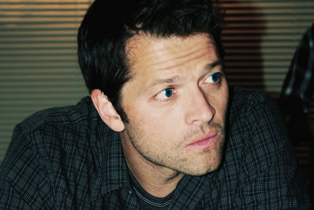 Misha Collins, utterly lost in those eyes