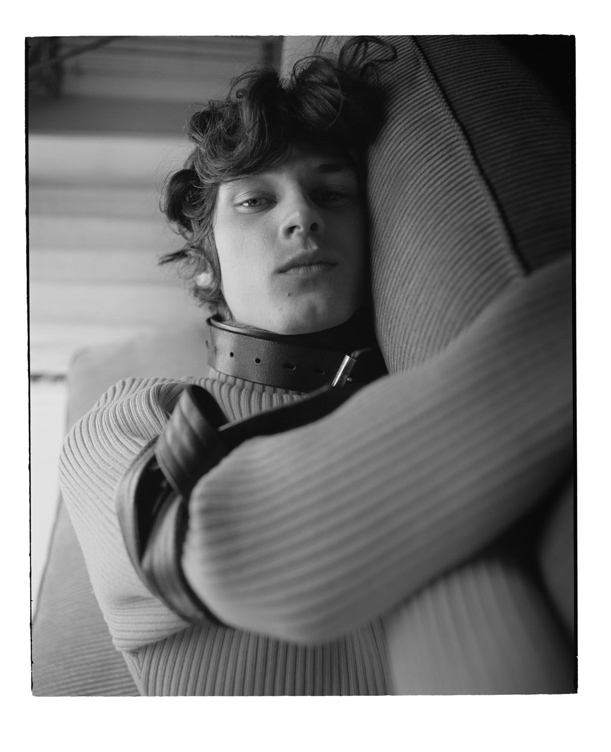 """Matthieu Villot photographed by Benjamin Vnuk and styled by Erik Raynal for """" NeuroMANCER """" sotry featured in Off Black Magazine - """" The Future is : Theirs """" issue. Grooming by Terry Saxon at Jedroot ."""