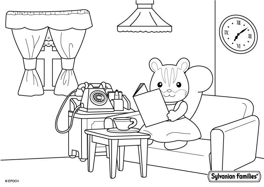 Billedresultat For Sylvanian Families Coloring Pages -4556