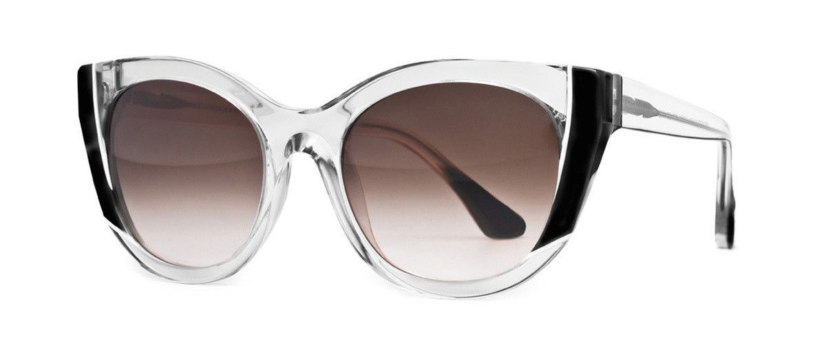 44d899458b11 Lend everyday outfits a shot of unexpected colour with Thierry Lasry s  clear Black acetate Nevermindy sunglasses. They have glamorous cat-eye  frames that ...