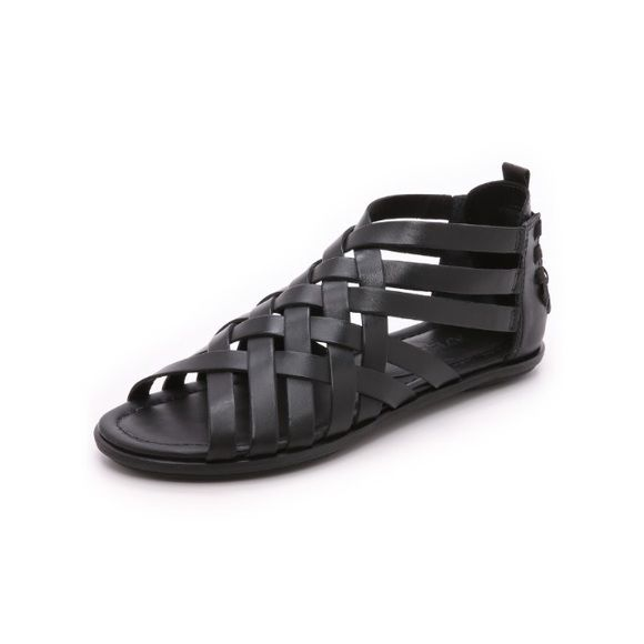 ATELJE Flint Woven Sandals Brand new, never been worn, casual leather ATELJE 71 slip-on sandals with elastic bands that relax the layered heel cap. Padded footbed and rubber sole. Super comfy, women's size 7. Original retail is $250.00. ATELJE Shoes Sandals