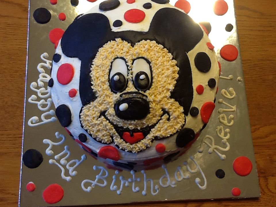 Excellent Mickey Mouse Cake For A 2 Year Old Boy With Images Boy Funny Birthday Cards Online Elaedamsfinfo