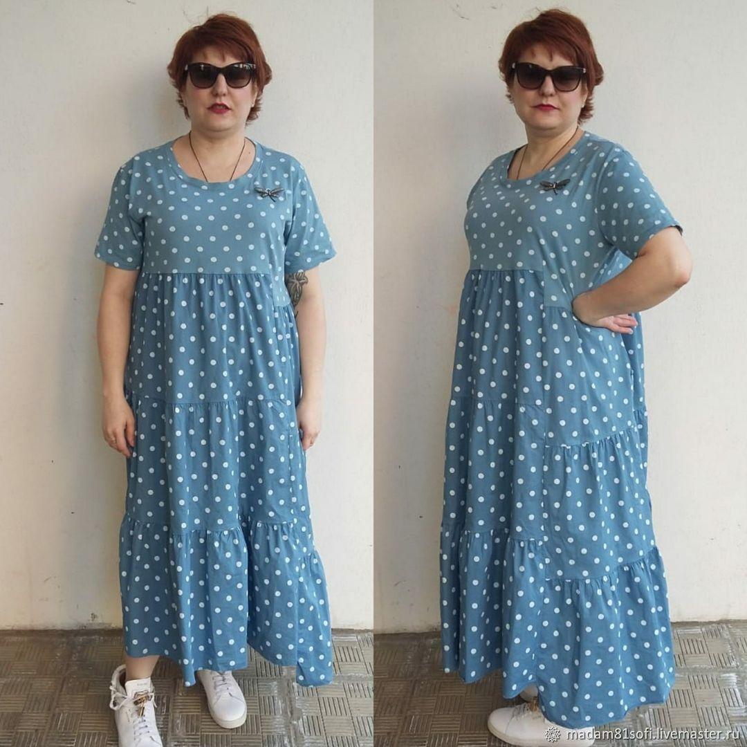 купить хлопковое платье большого размера