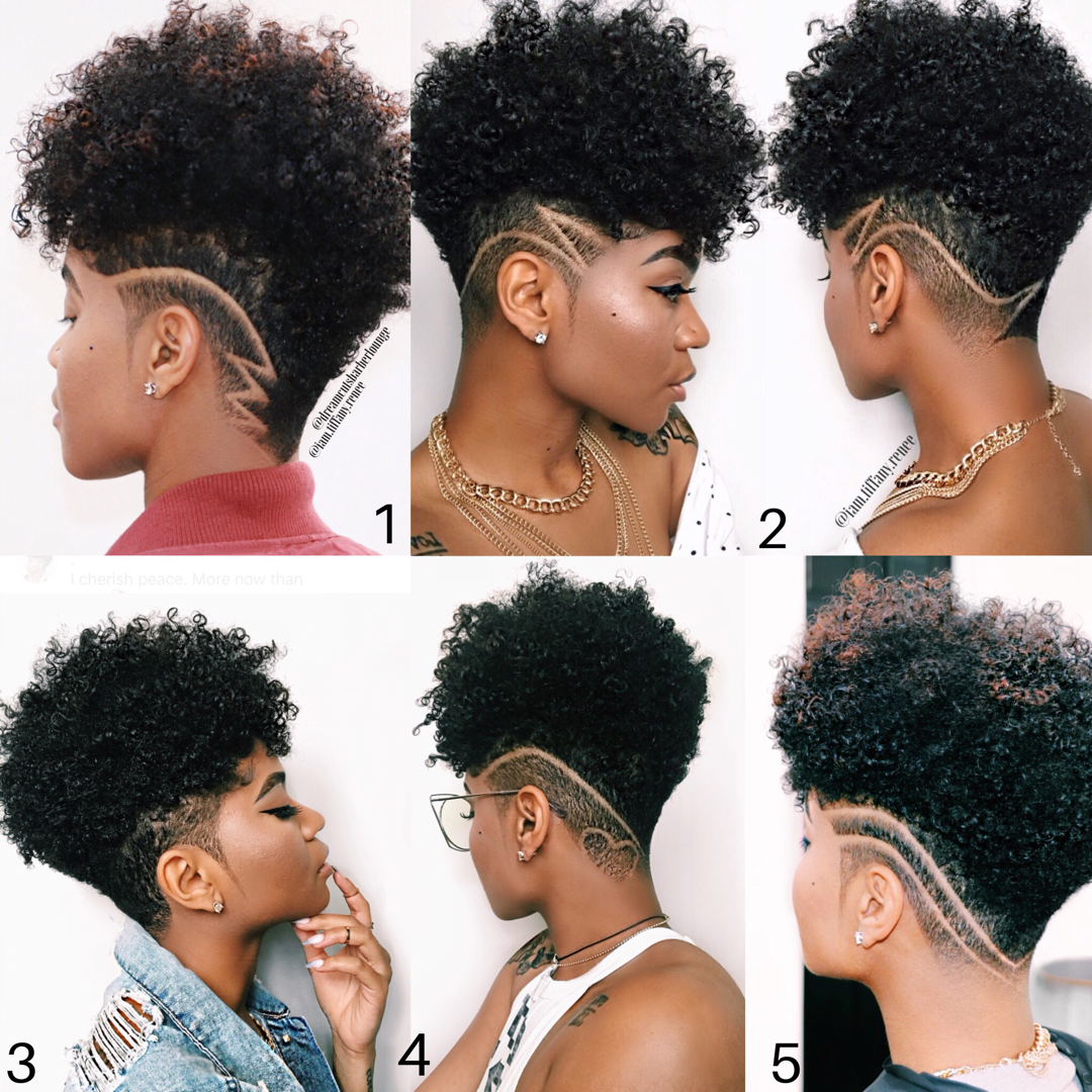 Undercut Natural Hair Tapered Style