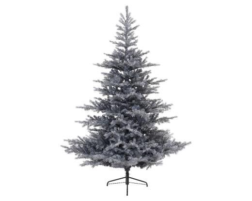 Frosted Grand Fir Tree Hinged Grey 210cm
