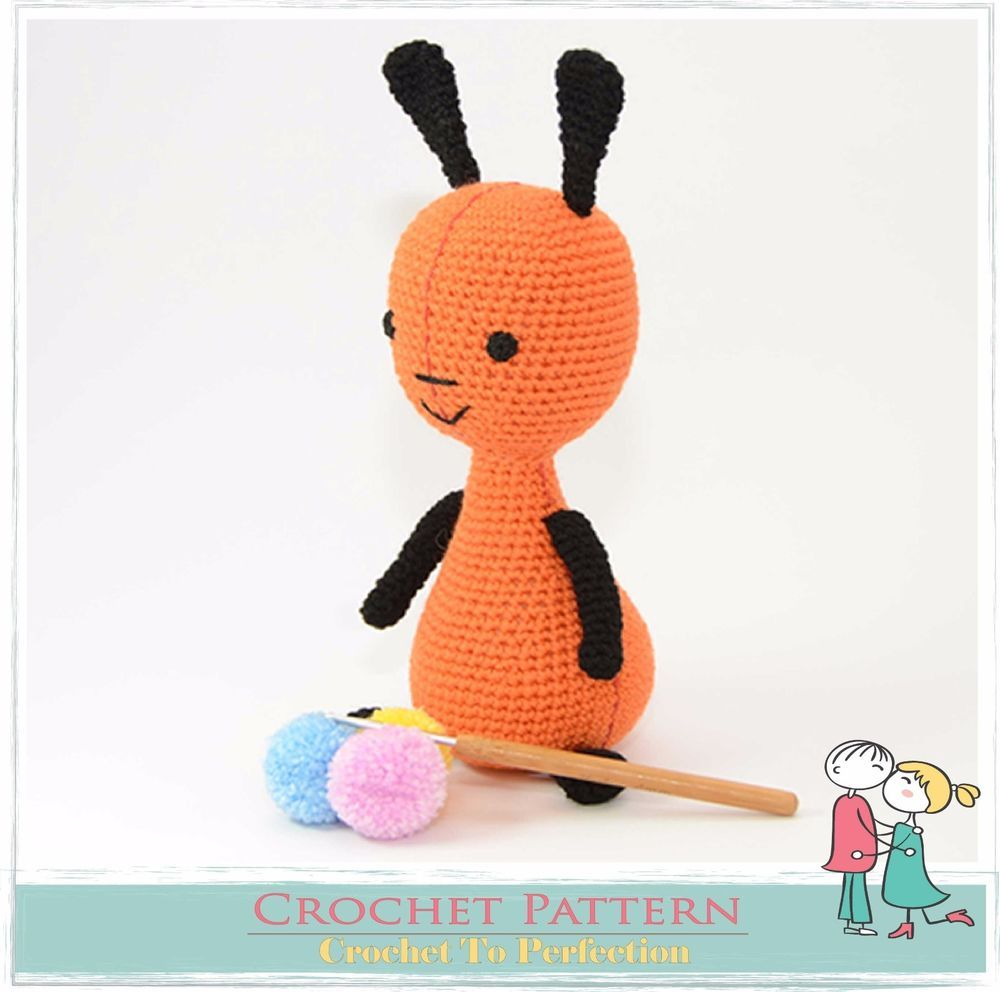 Bunny CROCHET Toy PATTERN on CD Amigurumi Toy Pattern Flop Bing Inspired