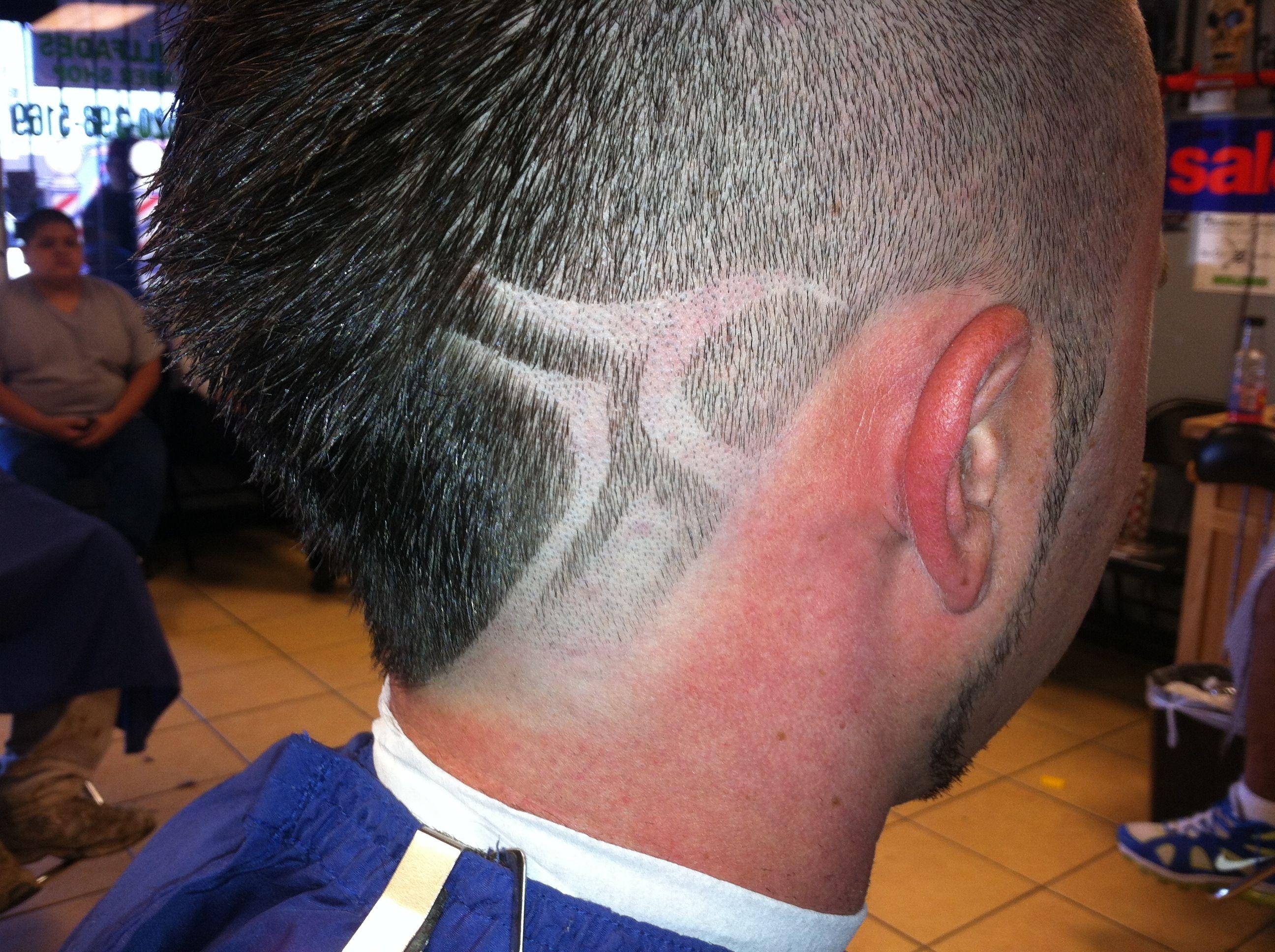 small design on a hawk   hair line cuts   pinterest