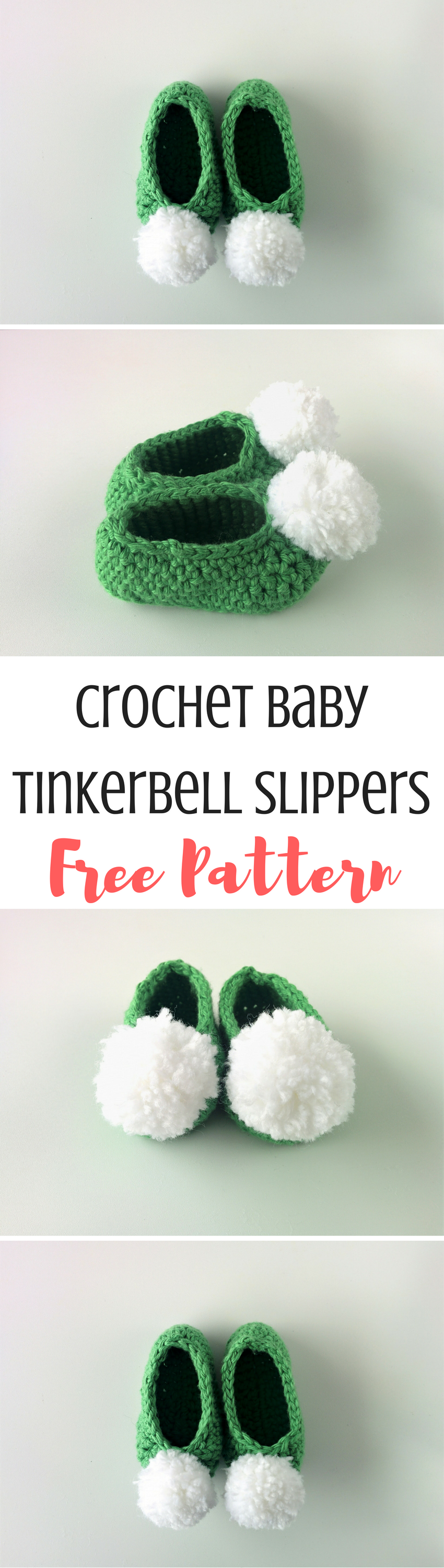 Free Pattern: Baby Tinkerbell Slippers | DIY Craft Den - The Best ...