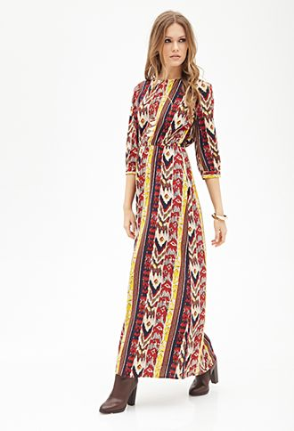 755a1b7fb Tribal Print Maxi Dress | FOREVER 21 - 2000084933 I need this dress--in  petite length though. Booo