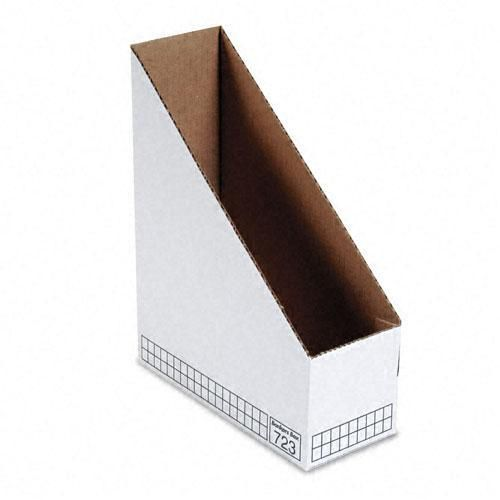 Fellowes Bankers Box Corrugated Magazine File Case Of 40 White Best Bankers Box Magazine Holders