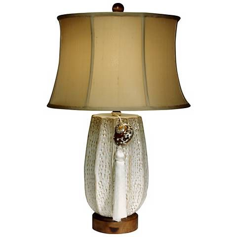 Returning Tide Ceramic Table Lamp By The Natural Light F9401 Lamps Plus Lamp Ceramic Table Lamps Shell Lamp