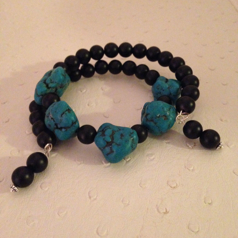 Blackstone and Howlite bracelet