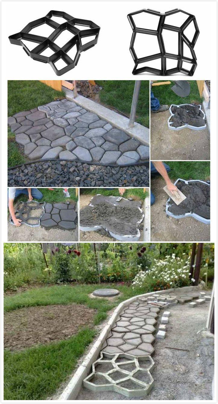 Garden Paving Concrete Mold | mimos | Pavimentação jardim, Jardins