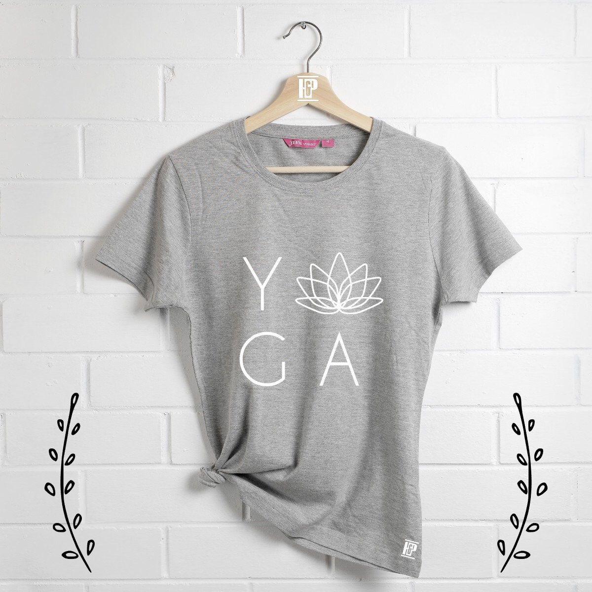 4d96536febf91 Yoga T-Shirt, Yogi shirt, Lotus Flower Tee, Yoga Clothing, Gym Shirt ...