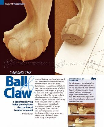 #1834 Carving Ball and Claw Foot - Furniture Legs Construction
