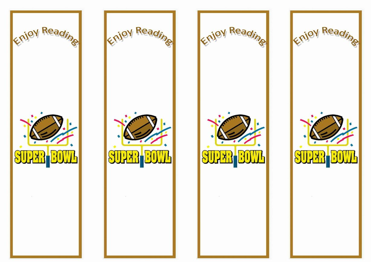 Football Themed Bookmarks Themed Bookmarks