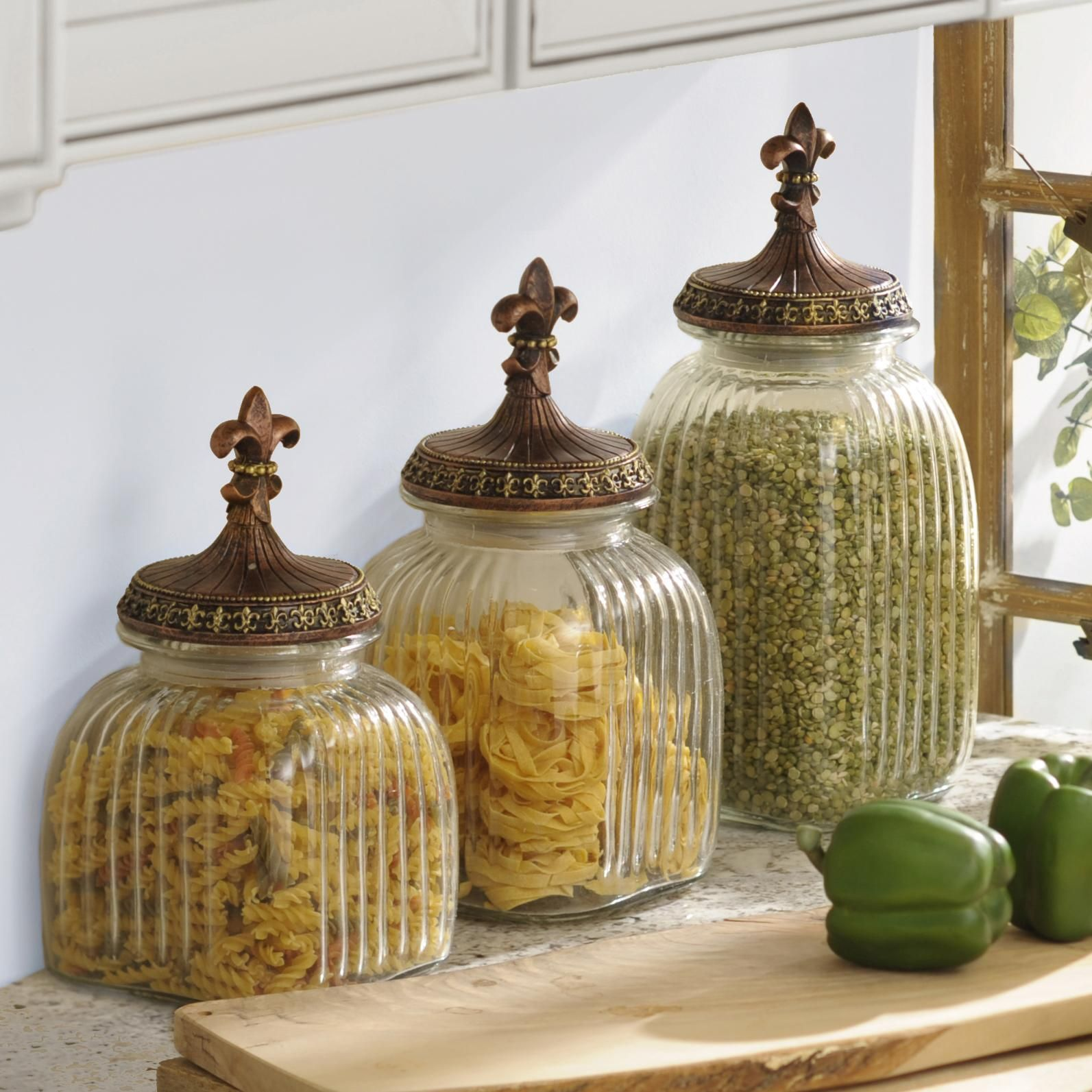 decorative kitchen canister sets organize your kitchen in a stylish way with kirkland s various sets of canisters available in 9252