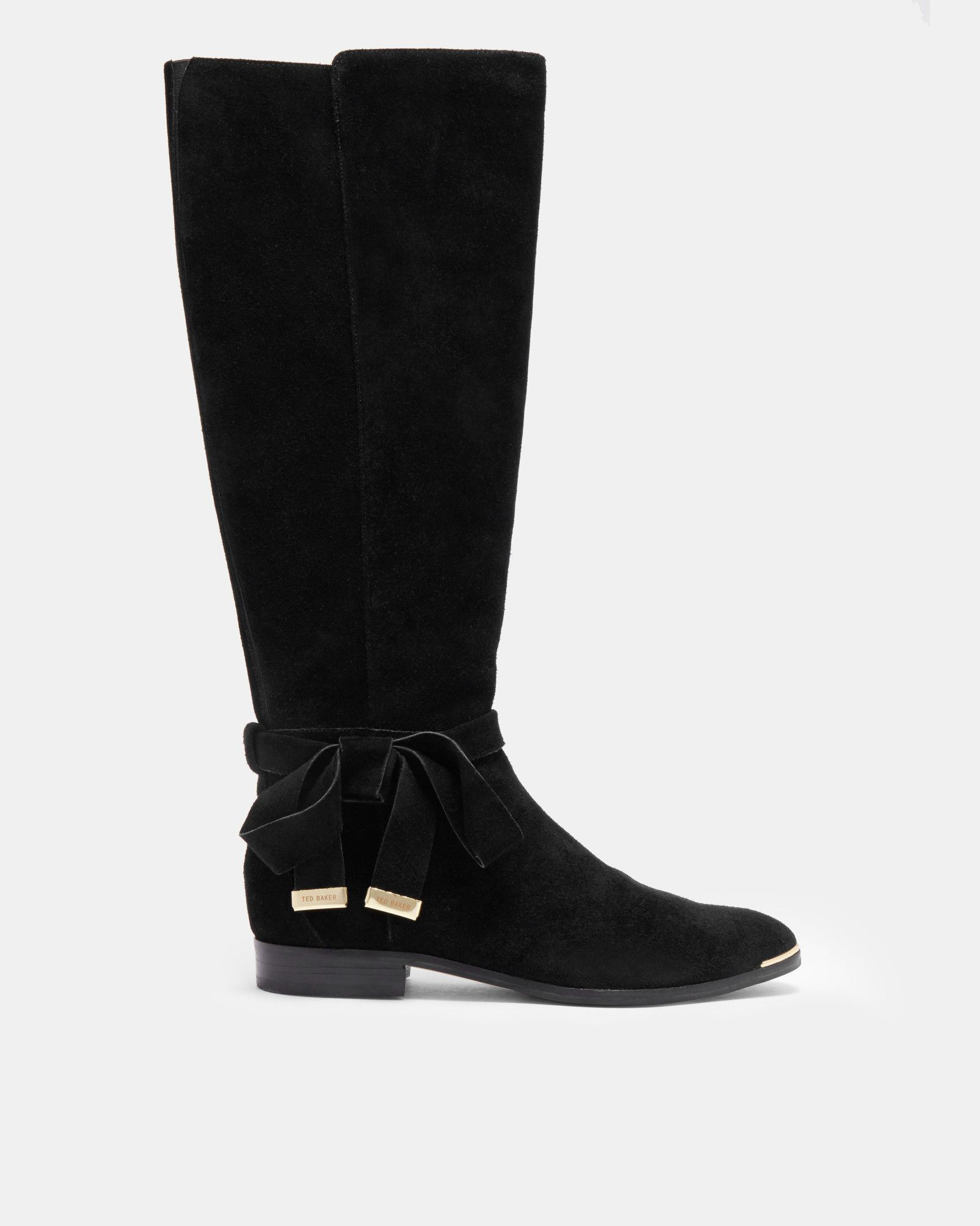 e61e68ede4d Ted Baker Suede knee high boots Black