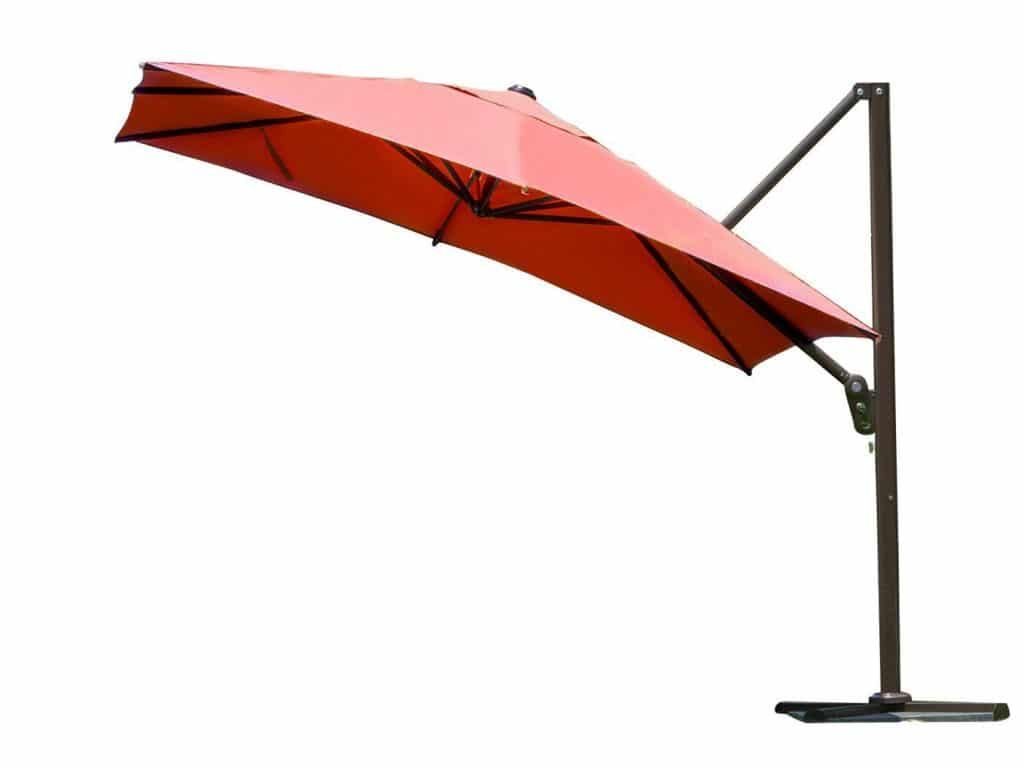 white cantilever furniture ideas umbrella mobile outdoor staggering sun images patio shade half kea offset