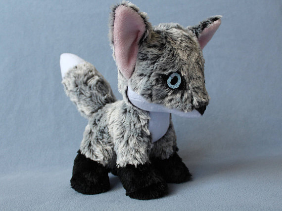 Gray Fox Plush Stuffed Animal Made To Order In 2018 Products