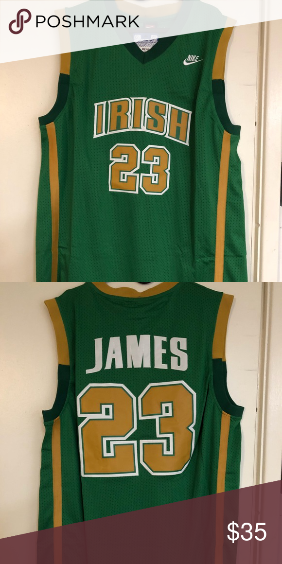wholesale dealer 42921 00f34 LeBron James #23 Irish high school jersey Brand new with tag ...