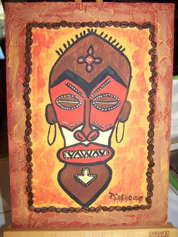 Masque africain africa pinterest plus d 39 id es masques africains masque et afrique for Peinture chambre style africain