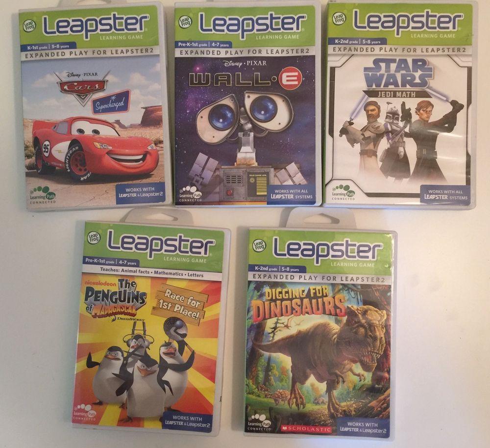 Uncategorized Star Wars Learning Games leapfrog leapster learning games star wars cars penguins dinosaur wall e lot