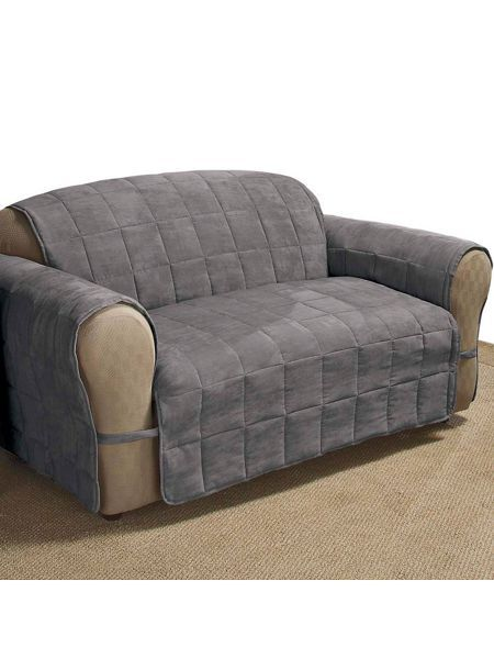 Ultimate Faux Suede Sofa Protector Has A 4 Square Quilt Sch And Water Repellent Finish