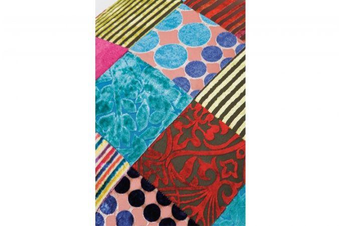 Petit tabouret patchwork Ottawa - Tabouret coloré - Declikdeco