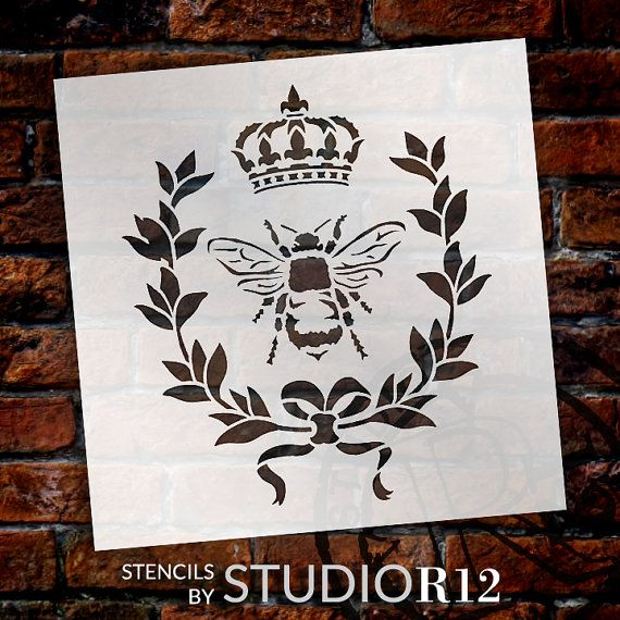 Reusable Stencils for Painting in Small /& Large Sizes Queen Crown Stencil Template for Walls and Crafts