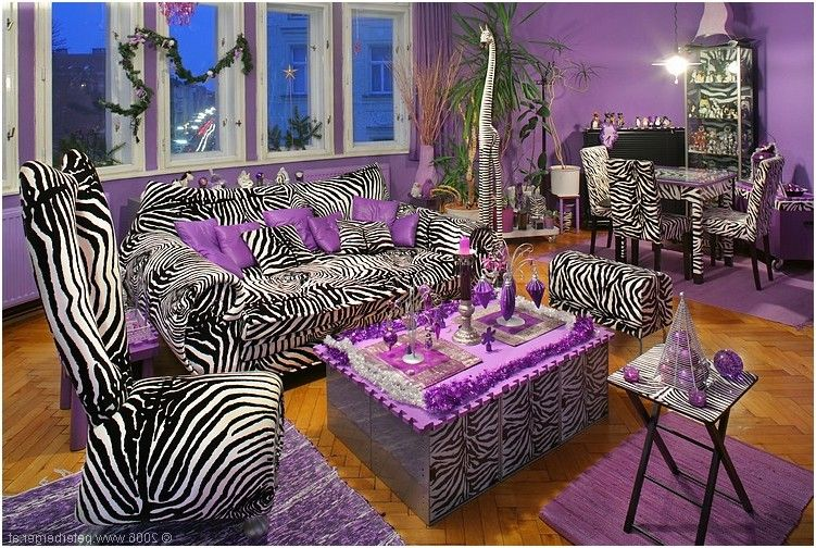 purple leopard print | Zebra Print Curtains And Drapes | Yellow ...