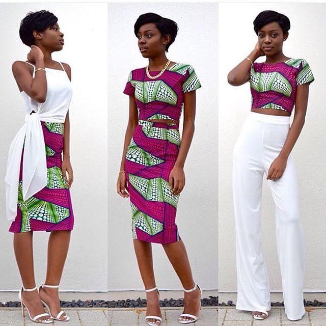 How to make good use of a 6 yards prints cloth #fashionghanamagazine #beautiful #dress  #africanprints #stylish #pose #africanbeauty #style#stylish  #skirt #croptop #white #green #printspopping  Fashionghanarocks