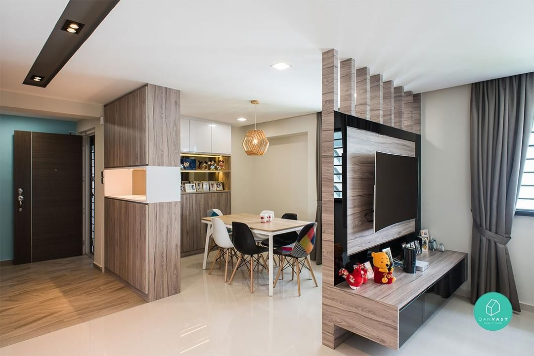 51 Lovely Open Kitchens With Unique Partitions And Room Dividers Kitchendesign Kitchenremode Bookshelf Room Divider Room Divider Shelves Living Room Divider