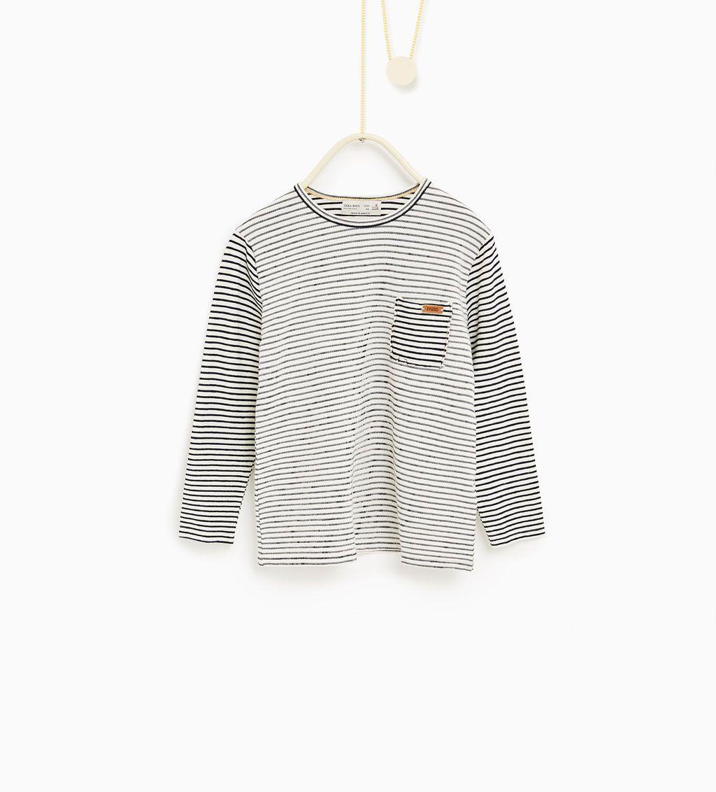 ZARA - KIDS - Contrast stripe top