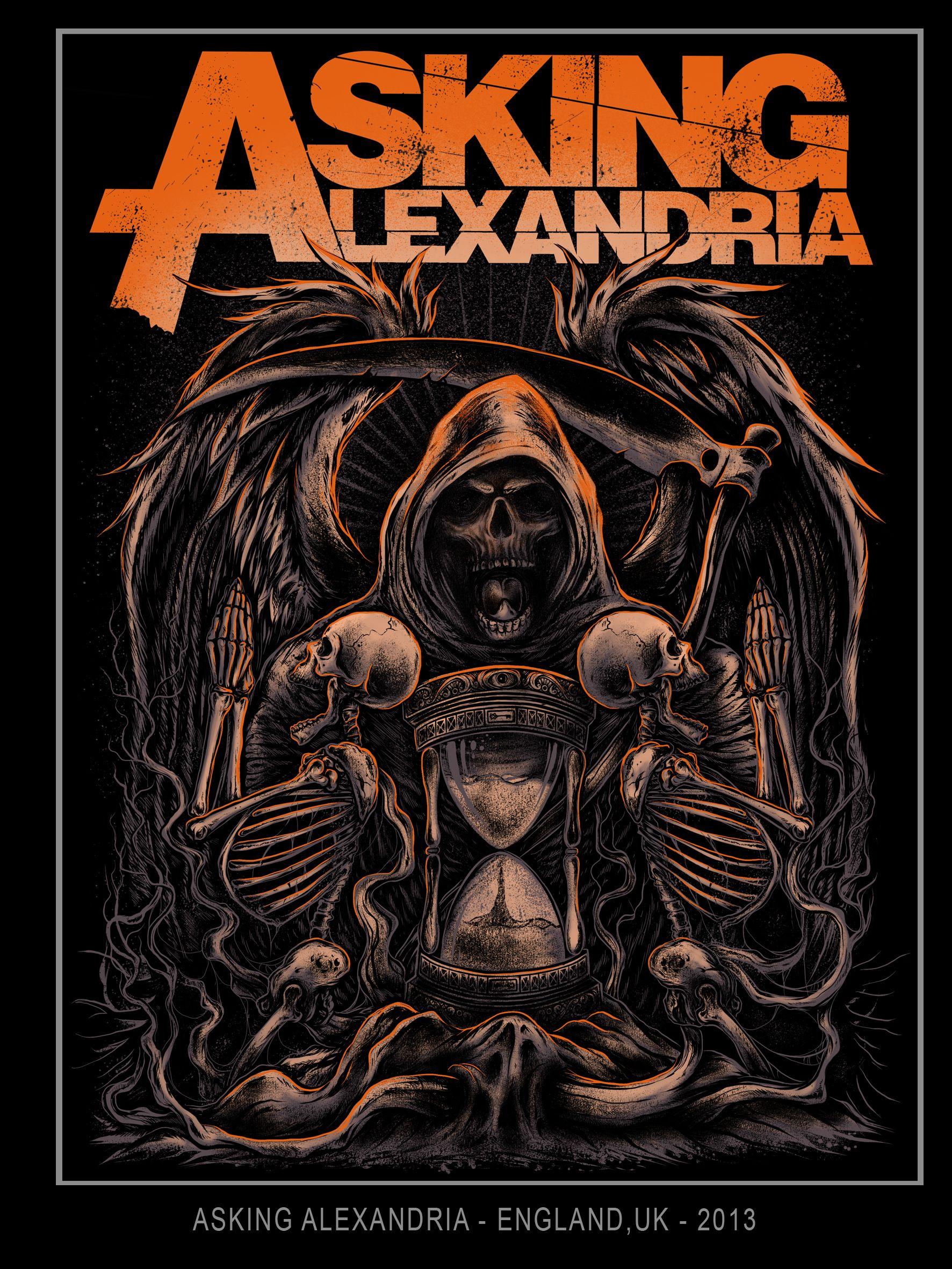 Asking Alexandria By Pzychopart Desain Tipografi Gambar Tipografi