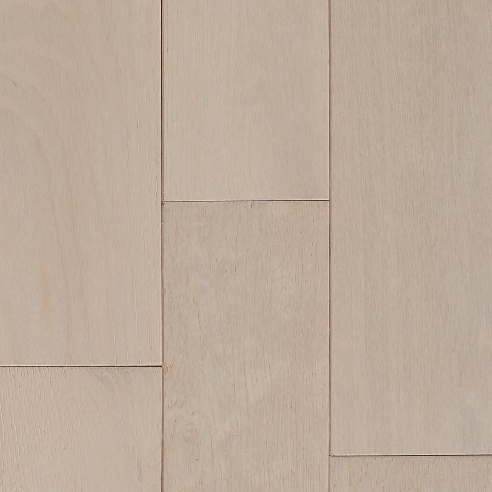 White Farmhouse Oak Wire Brushed Solid Hardwood - 3/4in. x 5in ...