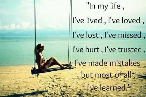 I do hope that I have learned