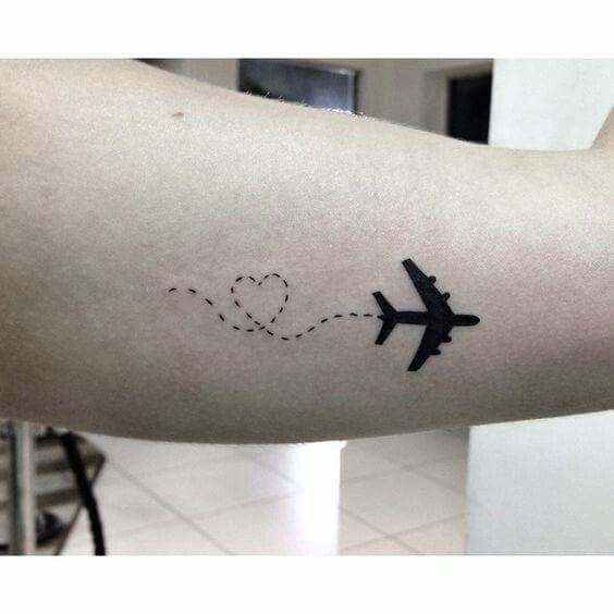 Photo of #SmallTattoos #SmallTattoo #Heart #Airplane #AirplaneT – Small Tattoos ✨
